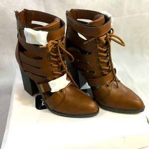 Brown Bamboo Heeled Boots